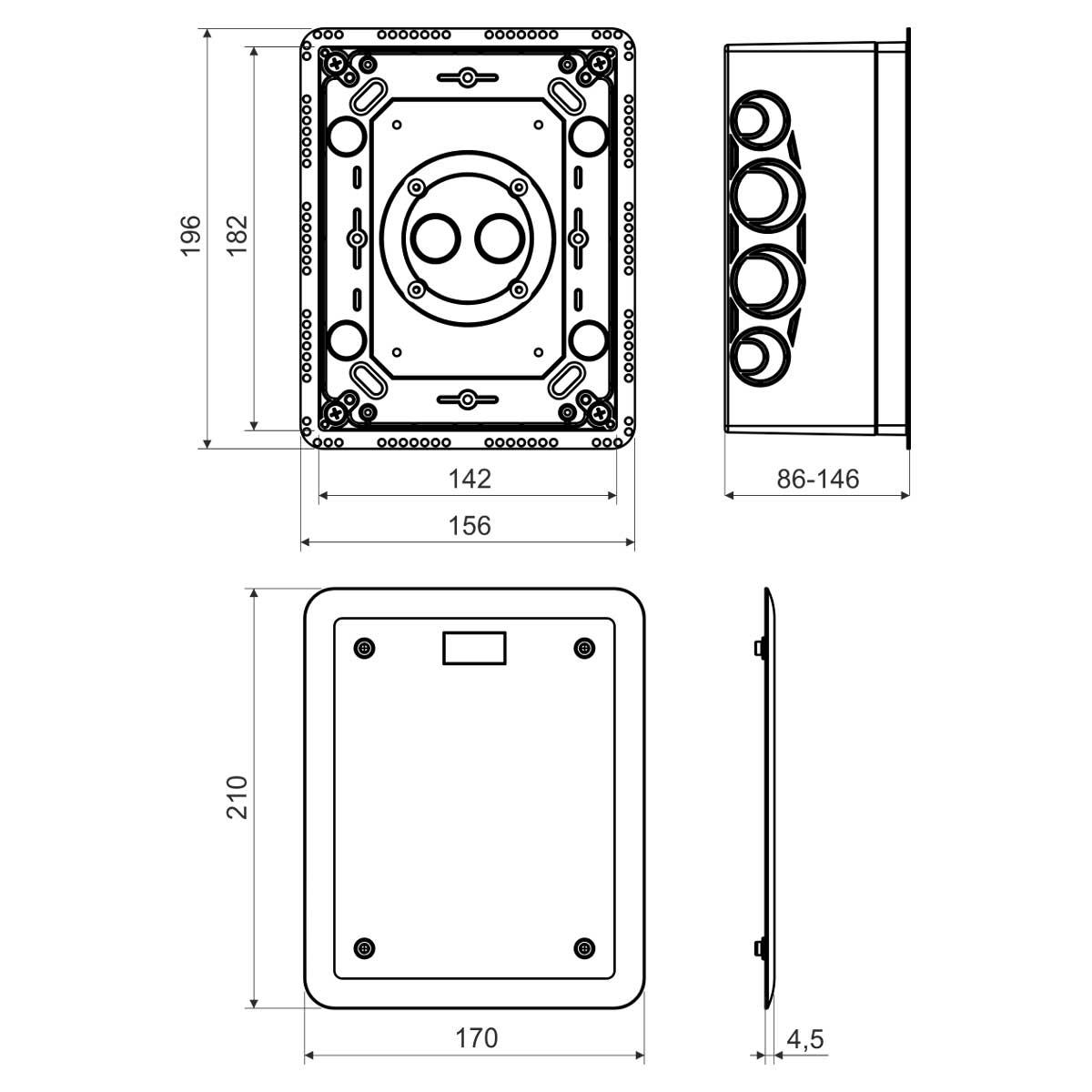 4762fa5d7 Použitie ako rozvodná krabica, pre meriacu svorku hromozvodu a iné  aplikácie podľa zákazníka. Nastaviteľná hĺbka krabice.